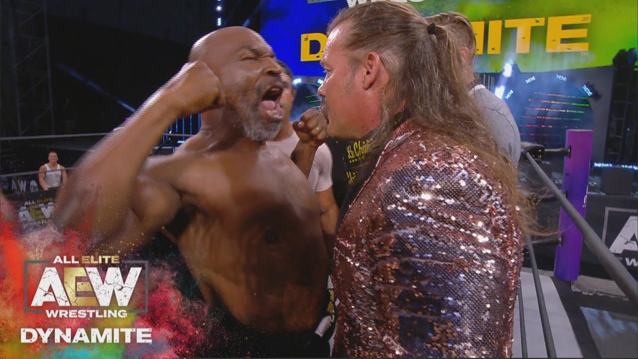 WHAT HAPPENED WHEN MIKE TYSON STEPPED INTO THE AEW RING? AEW DYNAMITE 5/27/20, JACKSONVILLE, FL HD quality image