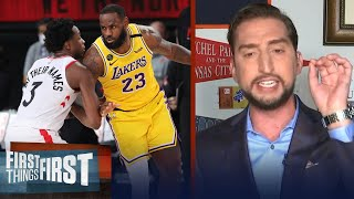 Nick Wright talks Raptors and why he isn't worried about the Lakers   NBA   FIRST THINGS FIRST Screenshot