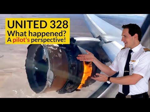 UNITED 328 Engine Failure! WHAT CHECKLISTS did the pilots use? Explained by CAPTAIN JOE MQ quality image