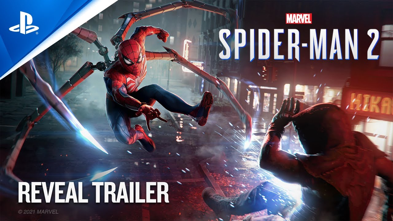 Marvel's Spider-Man 2 - PlayStation Showcase 2021: Reveal Trailer PS5 HD quality image