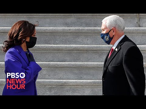 WATCH: Harris escorts the Pences as they depart U.S. Capitol MQ quality image