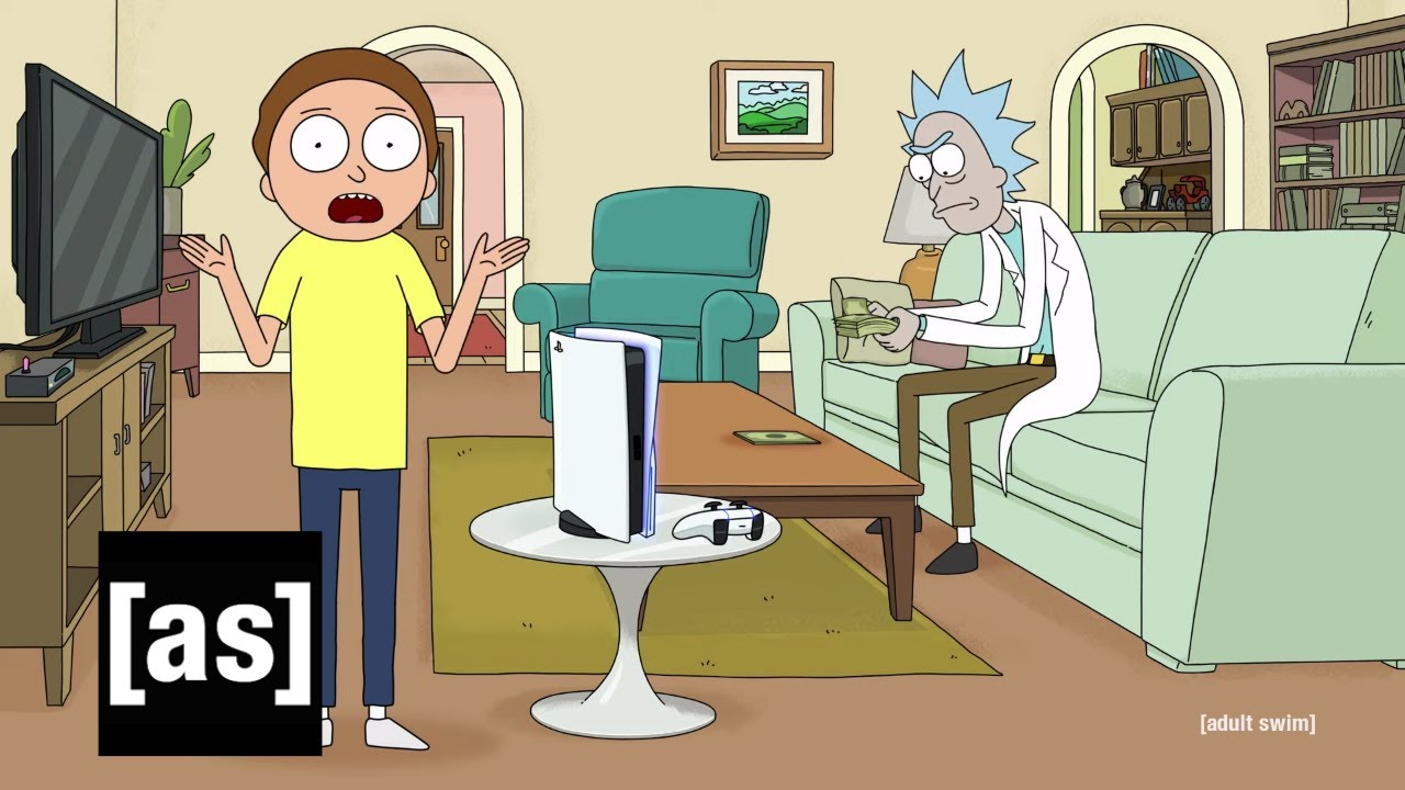 Rick and Morty x PlayStation 5 Console [ad] HD quality image
