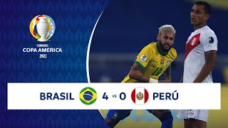 HIGHLIGHTS BRASIL 4 - 0 PERÚ   COPA AMÉRICA 2021   17-06-21 Screenshot