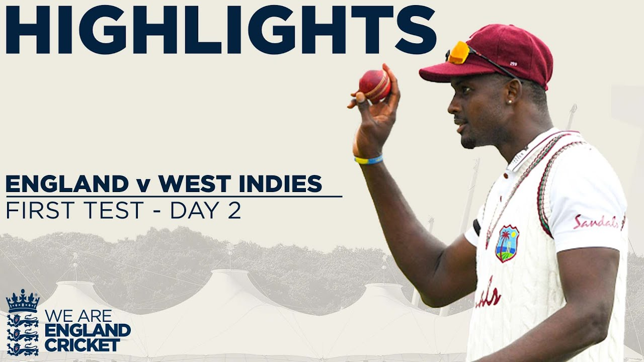 Day 2 Highlights Stunning Holder Takes Best Ever 6-42 England v West Indies 1st Test 2020 HD quality image