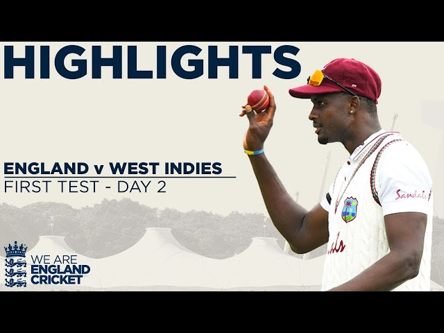 Day 2 Highlights Stunning Holder Takes Best Ever 6-42 England v West Indies 1st Test 2020 HQ quality image