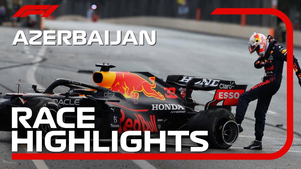 Race Highlights 2021 Azerbaijan Grand Prix HD quality image