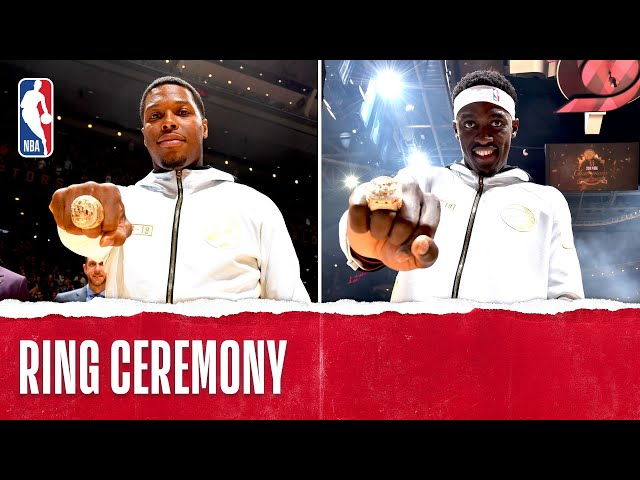 Toronto Raptors Championship Ring Ceremony October 22, 2019 HQ quality image
