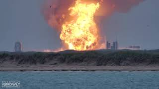 [SLO MO 4K] Massive explosion of a SpaceX Starship Prototype (SN4) at Boca Chica Texas Screenshot