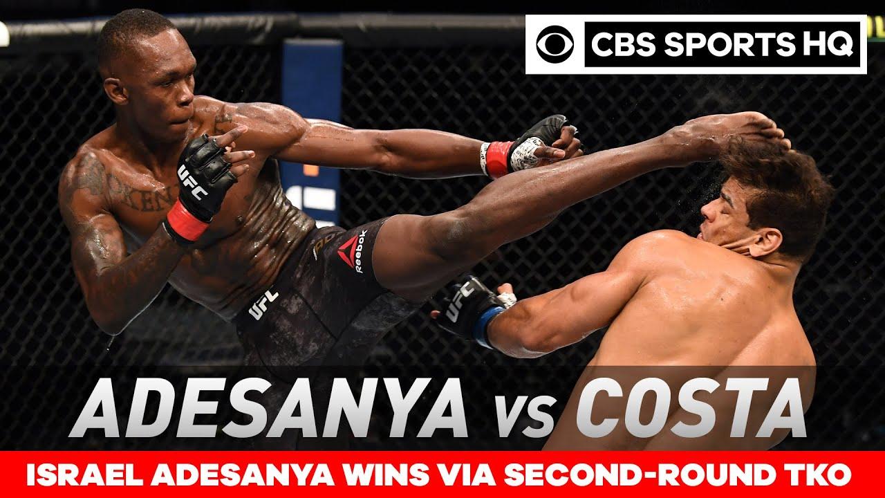 Israel Adesanya vs Paulo Costa: Adesanya retains title with TKO win UFC 253 Recap CBS Sports HQ HD quality image