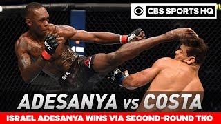 Israel Adesanya vs Paulo Costa: Adesanya retains title with TKO win | UFC 253 Recap| CBS Sports HQ Screenshot