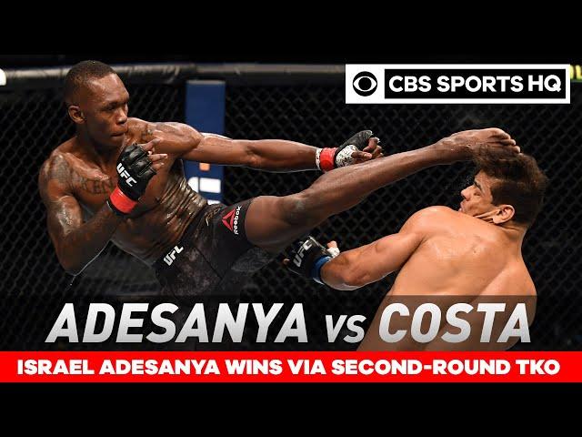 Israel Adesanya vs Paulo Costa: Adesanya retains title with TKO win UFC 253 Recap CBS Sports HQ HQ quality image