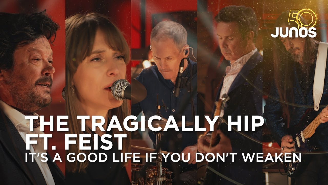 The Tragically Hip and Feist perform It's a Good Life If You Don't Weaken Juno Awards 2021 HD quality image