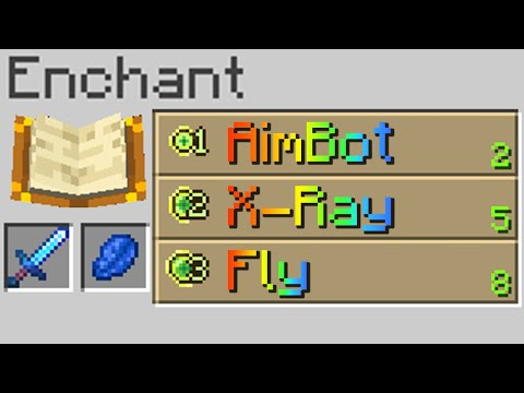 Minecraft, But Hacks Are Enchantments MQ quality image