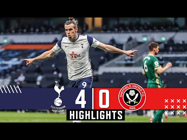 Tottenham Hotspur 4-0 Sheffield Utd Premier League highlights Gareth Bale Hat Trick downs Blades HQ quality image