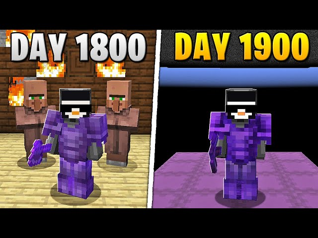 I Survived 1,900 Days in HARDCORE Minecraft... HQ quality image