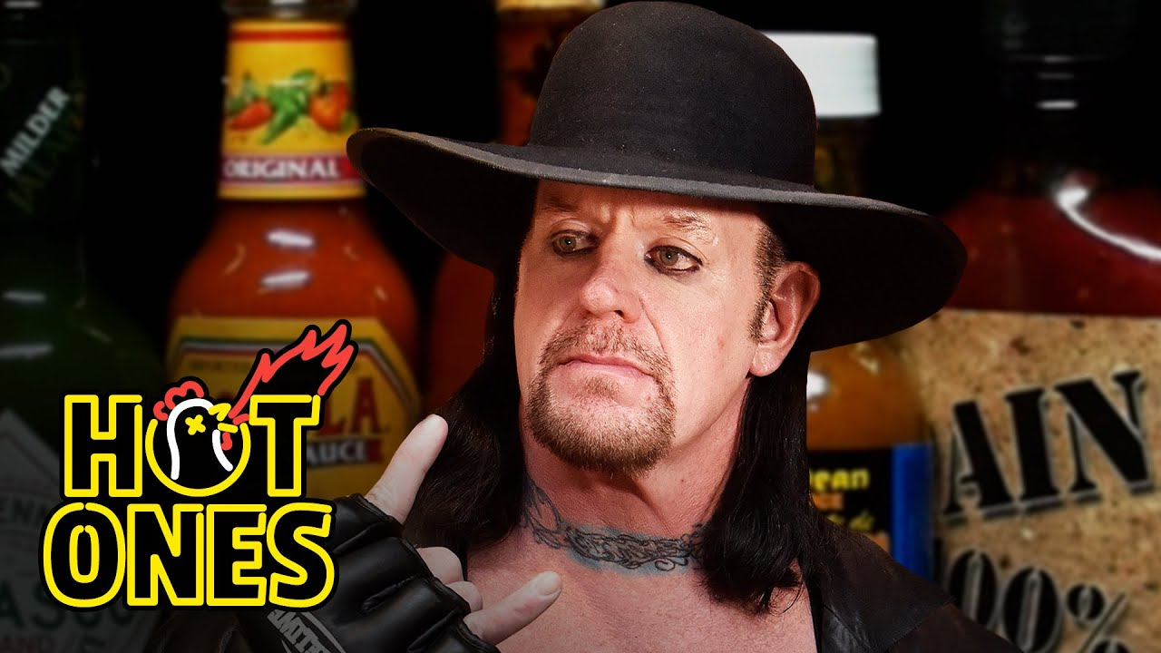 The Undertaker Takes Care of Business While Eating Spicy Wings Hot Ones HD quality image