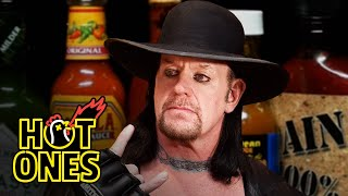 The Undertaker Takes Care of Business While Eating Spicy Wings Hot Ones MD quality image