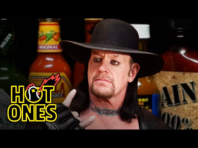 The Undertaker Takes Care of Business While Eating Spicy Wings Hot Ones HQ quality image